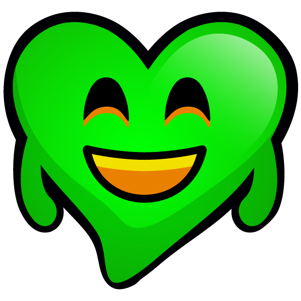 Green Hearts stickers messages sticker-2