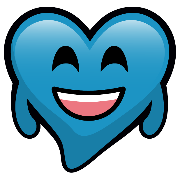 Blue Hearts stickers messages sticker-2