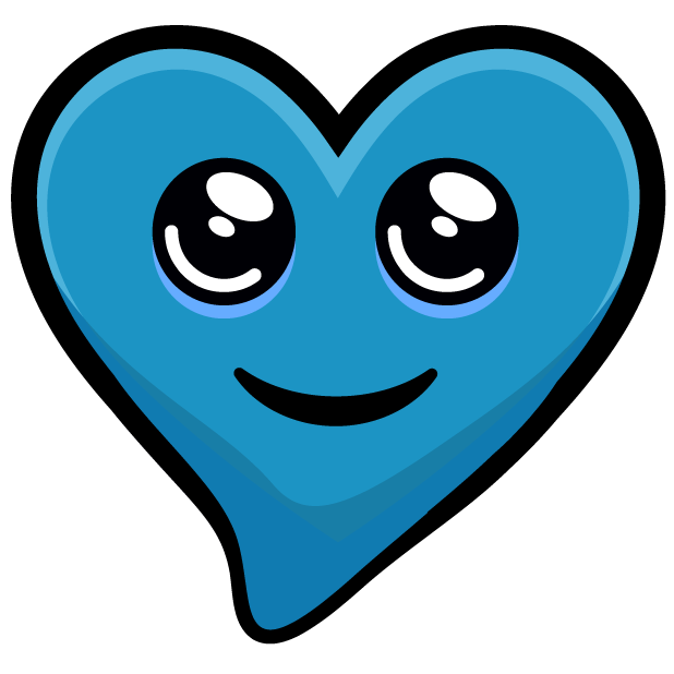 Blue Hearts stickers messages sticker-11