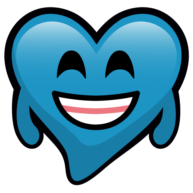 Blue Hearts stickers messages sticker-3