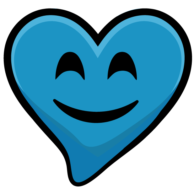 Blue Hearts stickers messages sticker-9