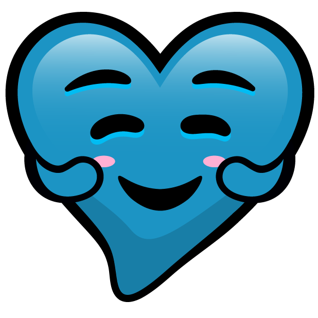 Blue Hearts stickers messages sticker-8