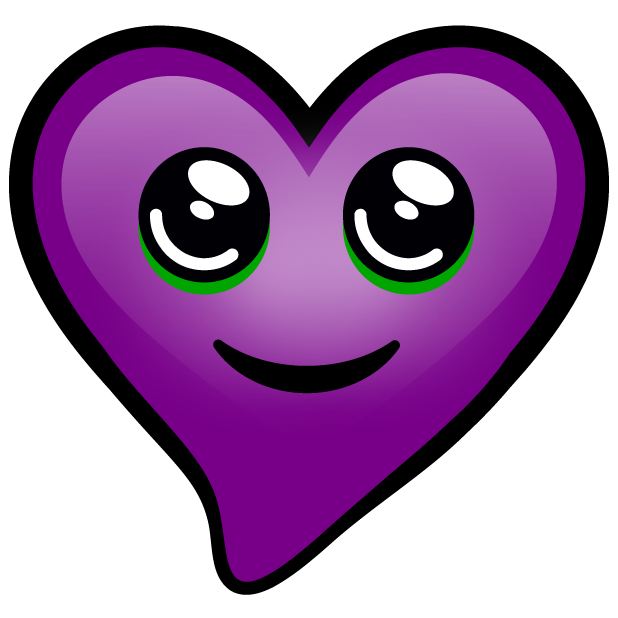 Purple Hearts stickers messages sticker-11