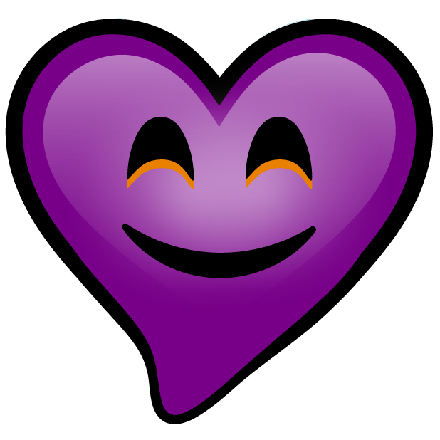 Purple Hearts stickers messages sticker-9