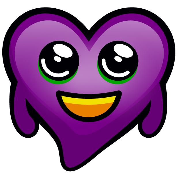 Purple Hearts stickers messages sticker-0