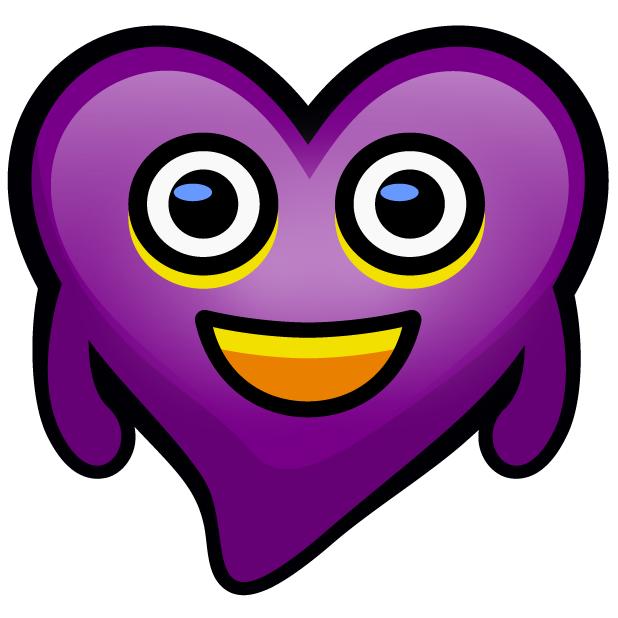 Purple Hearts stickers messages sticker-1