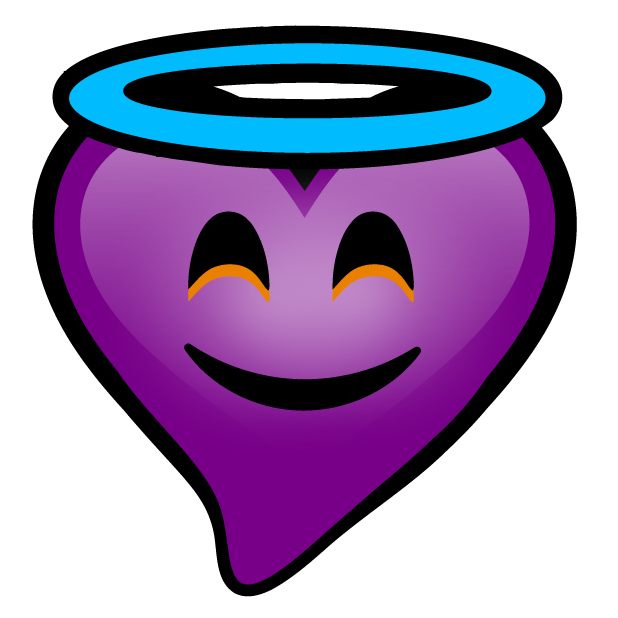 Purple Hearts stickers messages sticker-10