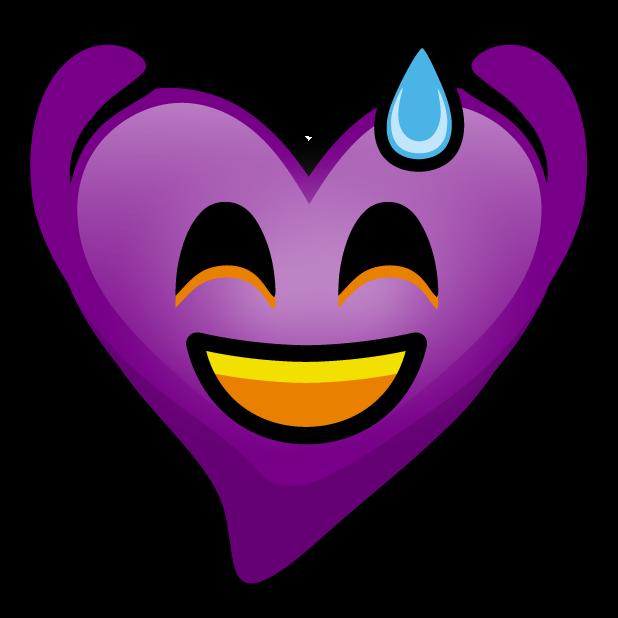 Purple Hearts stickers messages sticker-5