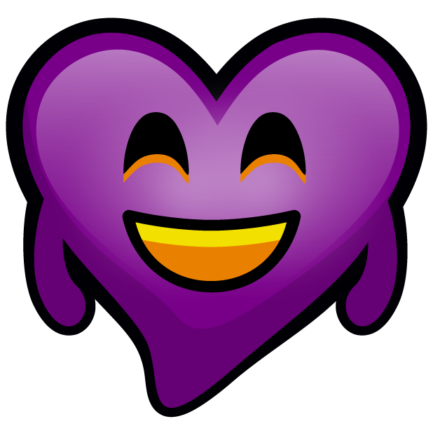 Purple Hearts stickers messages sticker-2