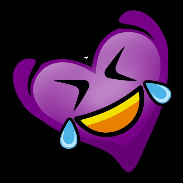 Purple Hearts stickers messages sticker-7