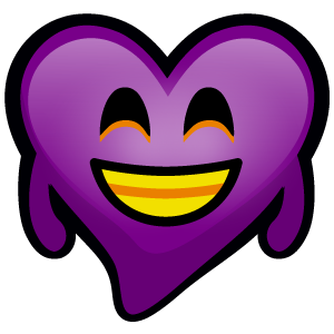 Purple Hearts stickers messages sticker-3