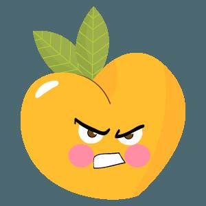 pear fruits emoji sticker messages sticker-8