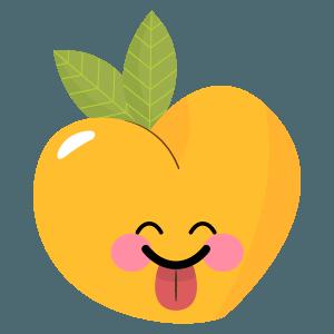 pear fruits emoji sticker messages sticker-1