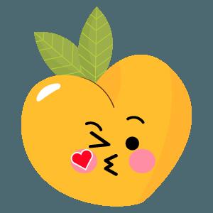 pear fruits emoji sticker messages sticker-6