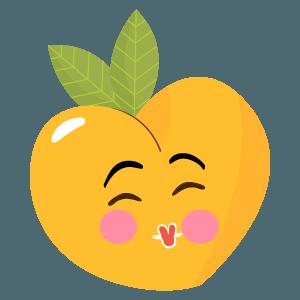 pear fruits emoji sticker messages sticker-10