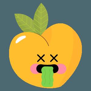 pear fruits emoji sticker messages sticker-2