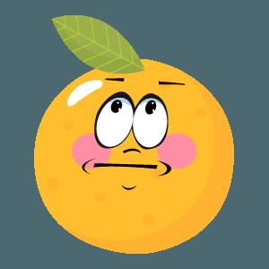 Orange stickers app 2020 messages sticker-6
