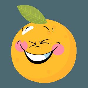 Orange stickers app 2020 messages sticker-1