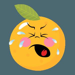 Orange stickers app 2020 messages sticker-9