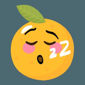 Orange stickers app 2020 messages sticker-2