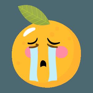 Orange stickers app 2020 messages sticker-5