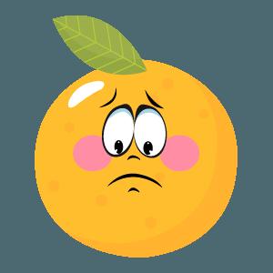 Orange stickers app 2020 messages sticker-7