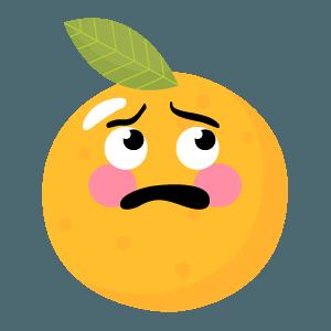 Orange stickers app 2020 messages sticker-10