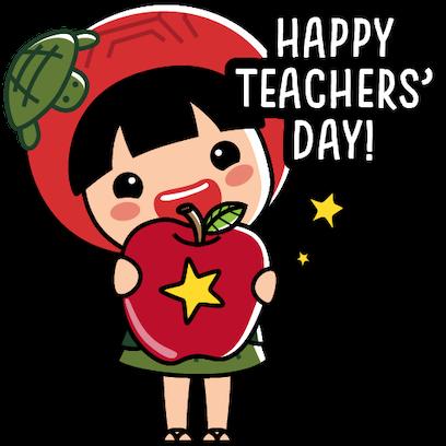 Ang Ku Kueh Girl - TeachersDay messages sticker-2