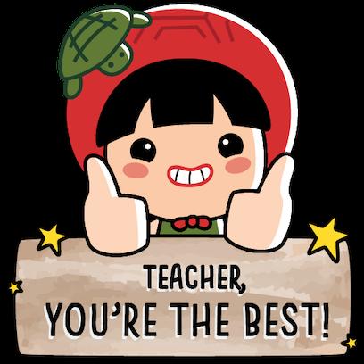 Ang Ku Kueh Girl - TeachersDay messages sticker-4