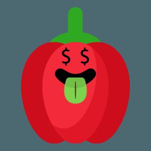 red fruits emoji sticker app messages sticker-5