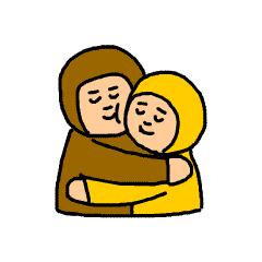 Happy brown messages sticker-4
