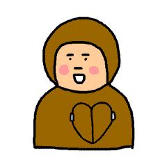 Happy brown messages sticker-2