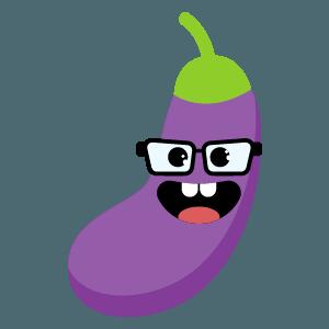 eggplant fruit emoji stickers messages sticker-5