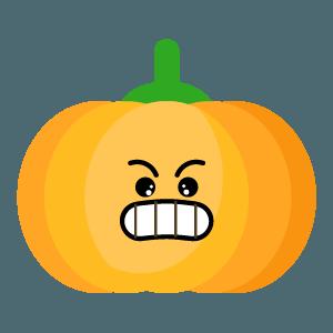 Red pumpkin emoji 2019 messages sticker-1