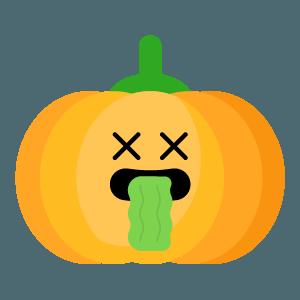Red pumpkin emoji 2019 messages sticker-3