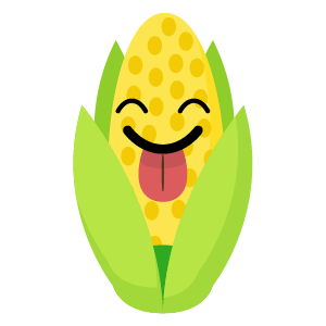 roasted corn stickers app messages sticker-3