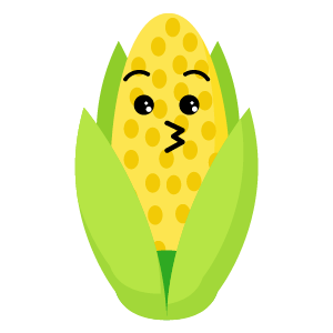 roasted corn stickers app messages sticker-4