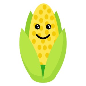 roasted corn stickers app messages sticker-11