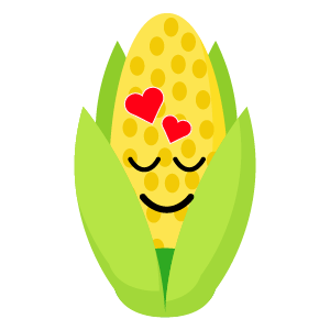 roasted corn stickers app messages sticker-9