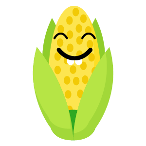 roasted corn stickers app messages sticker-10