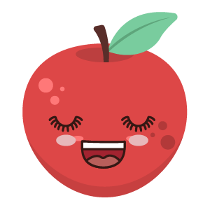 Red apple stickers app messages sticker-9