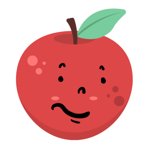 Red apple stickers app messages sticker-7