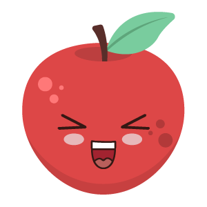 Red apple stickers app messages sticker-0