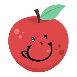 Red apple stickers app messages sticker-6