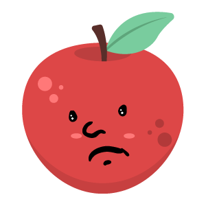 Red apple stickers app messages sticker-3