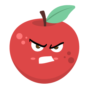 Red apple stickers app messages sticker-11