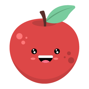 Red apple stickers app messages sticker-8