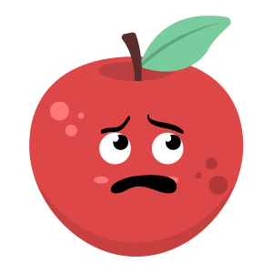 Red apple stickers app messages sticker-5