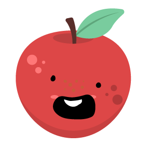 Red apple stickers app messages sticker-2