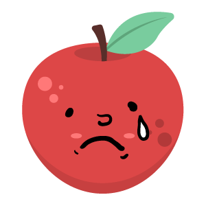 Red apple stickers app messages sticker-1